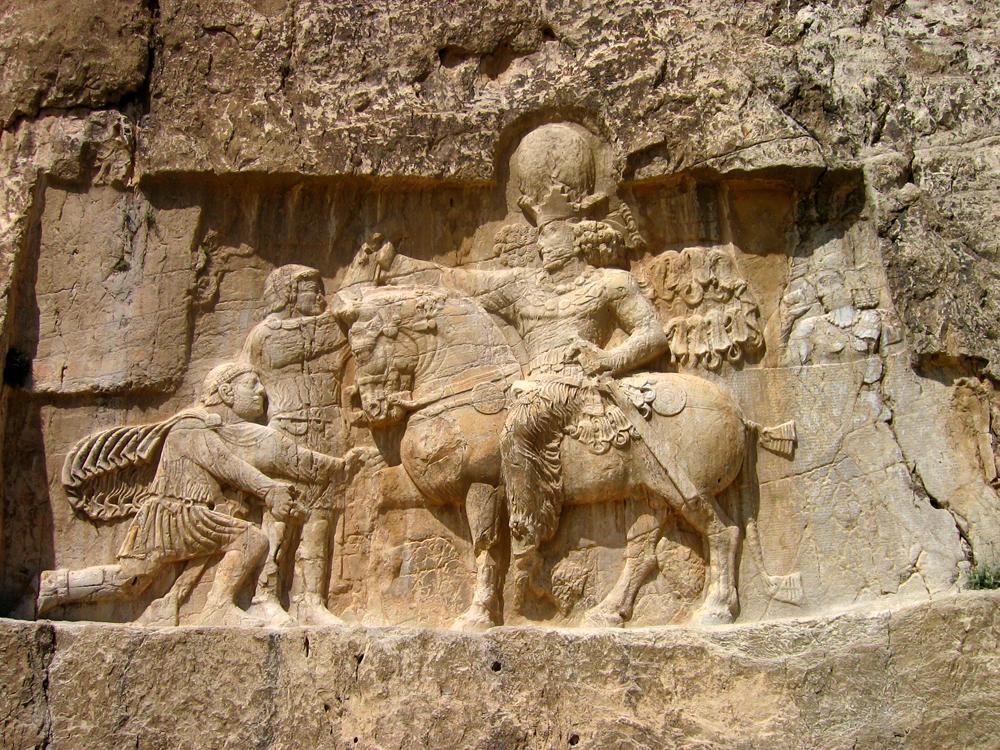 Bajorelieves-Sasanidas-en-Naqsh-e-Rustam-II