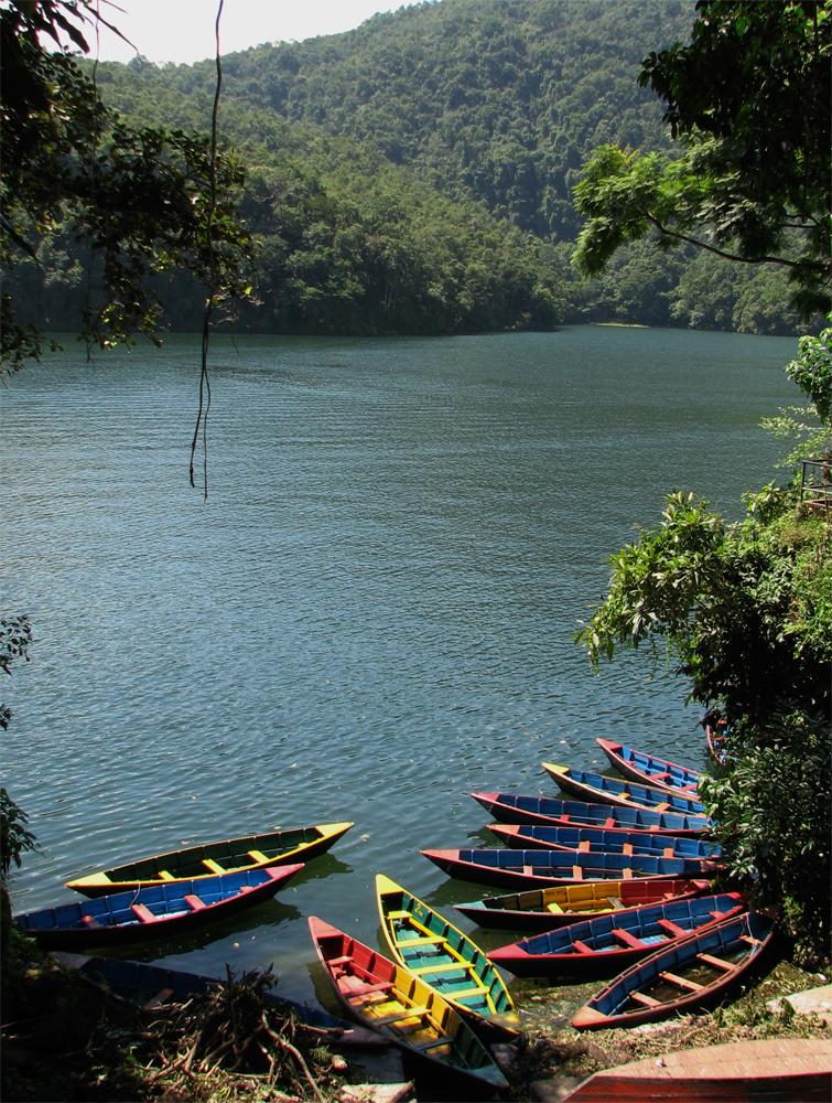 Barcas-en-el-Lago-Phewa