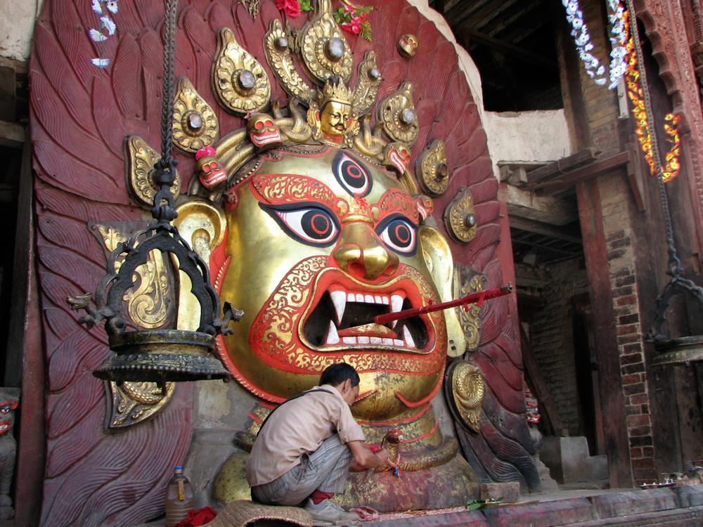 Cara-de-Bhairab-(Versión-nepalí-de-Shiva)