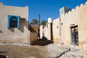 Casas de adobe en Al-Rustaq
