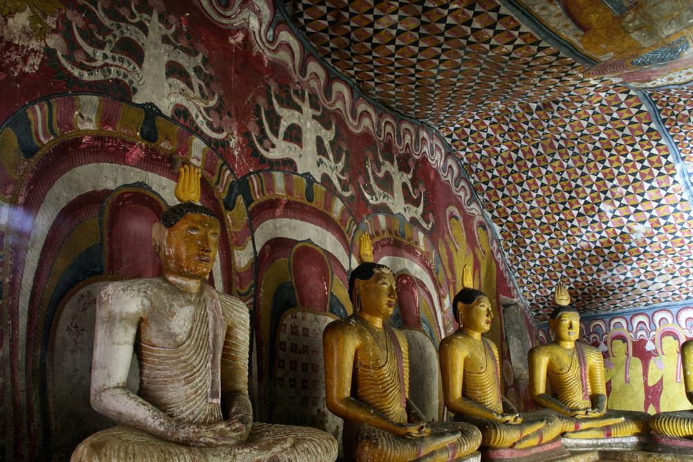 Sigiriya y Dambulla, budismo en Ceylan