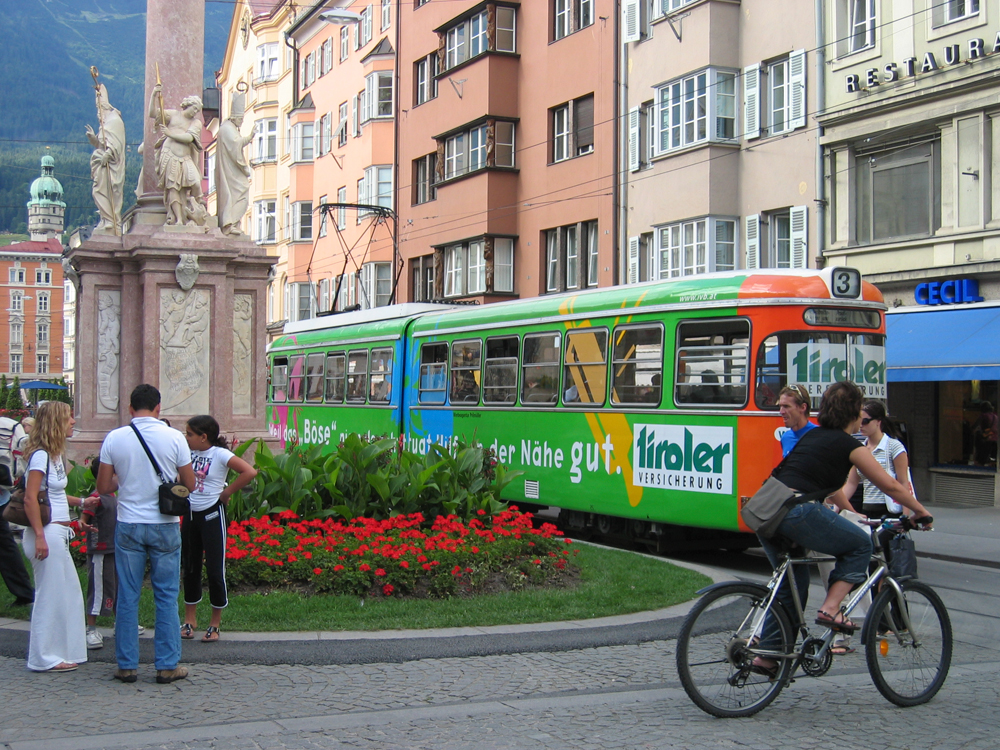 El tranvía en Innsbruck