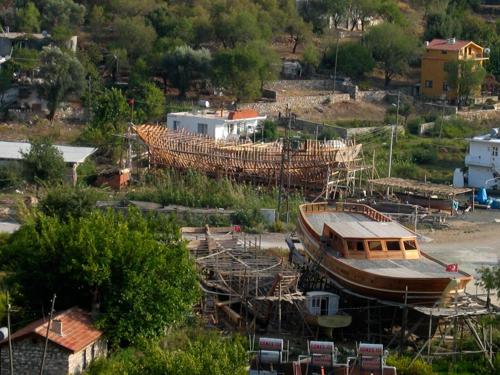 Fabricación-de-barcos-en-Selimiye