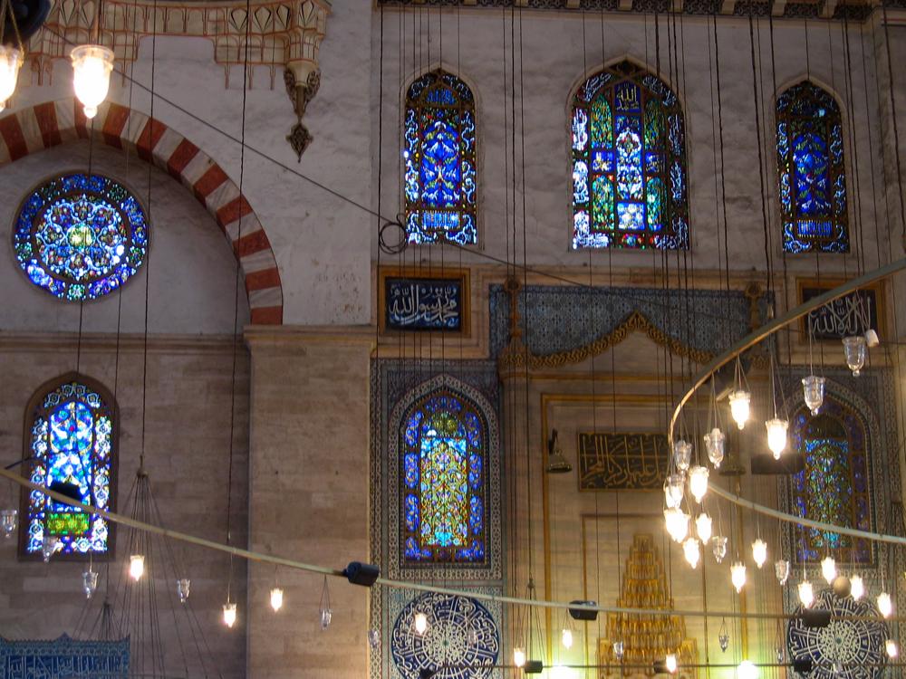 Interior-de-la-mezquita-de-Beyazit