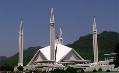 Mezquita Faisal de Islamabad. ¡La CIA creyó que los minaretes eran lanzaderas de misiles!