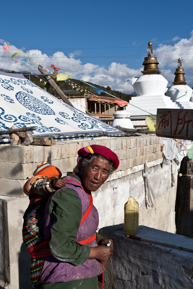 Mujer-tibetana