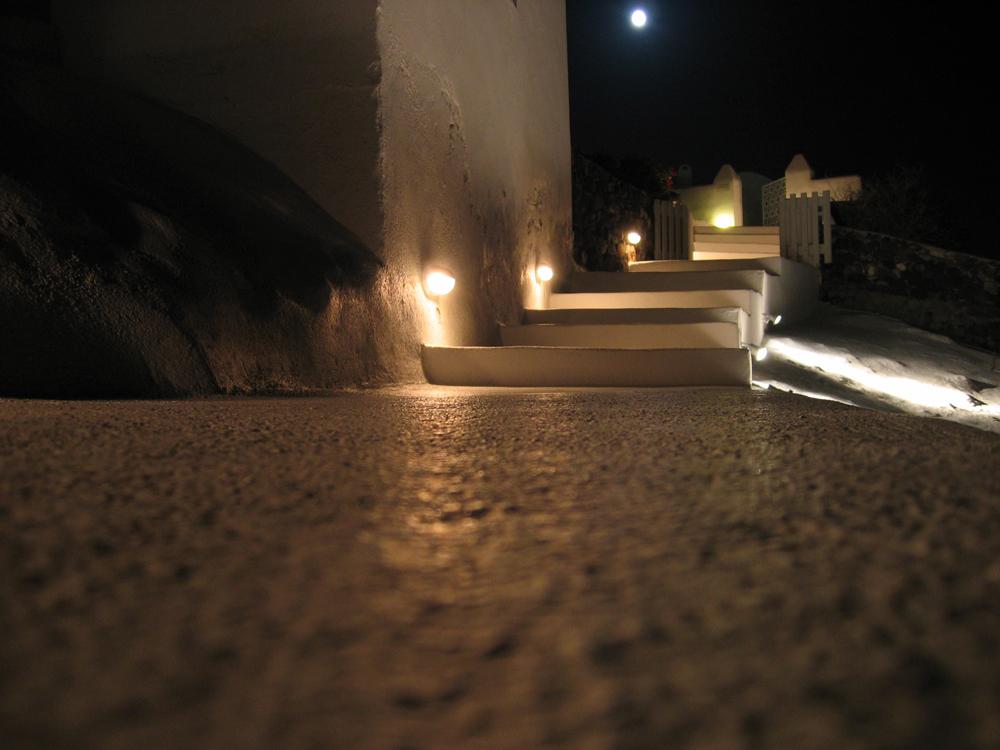 Noche-en-Santorini