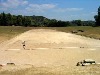 El estadio era una medida equivalente a 185 metros