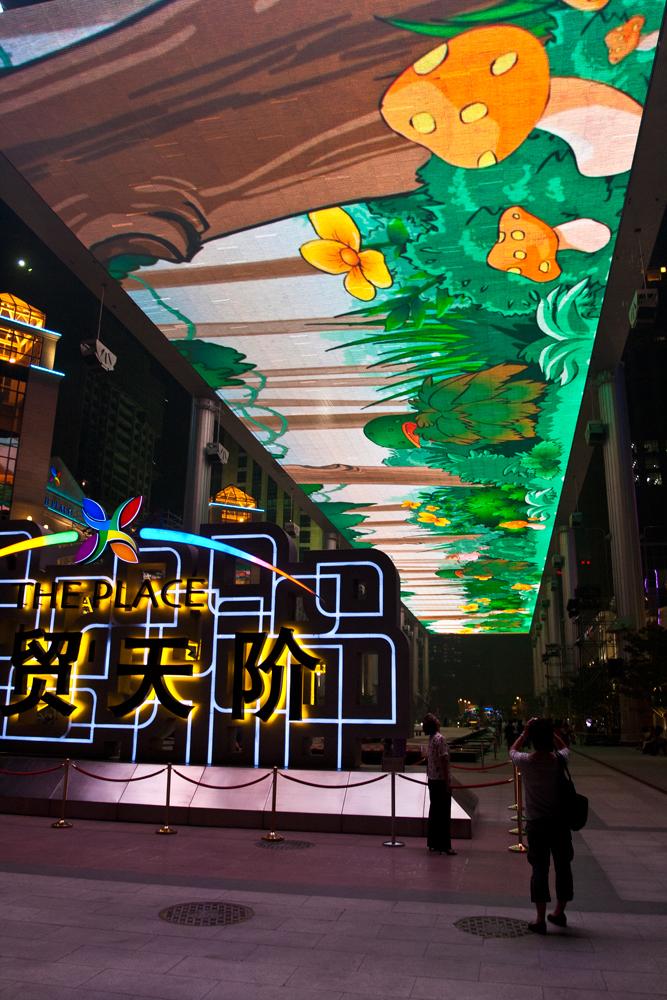 Pantalla-gigante-en-el-barrio-de-Chaoyang