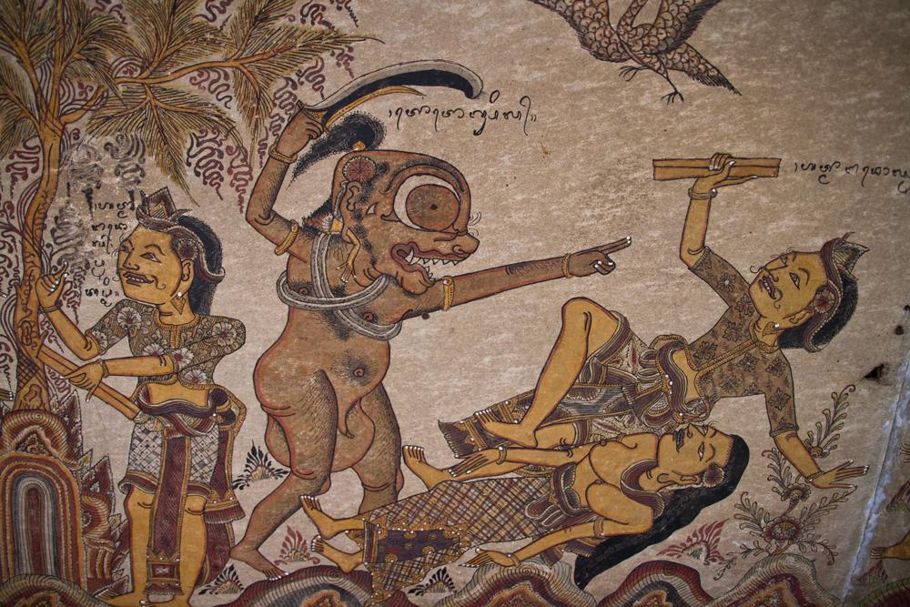 Pinturas-en-los-techos-del-Palacio-Puri-Semarapura-en-Klungkung-II