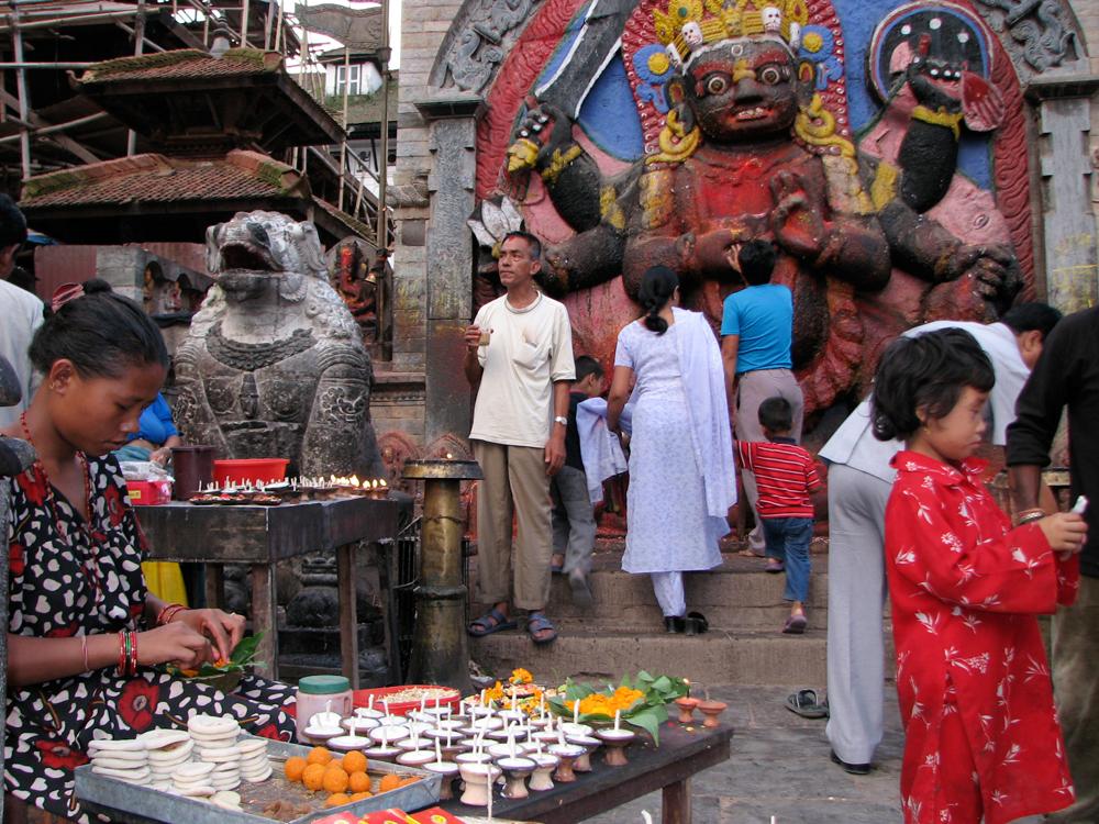 Preparaciones-del-Indra-Jatra