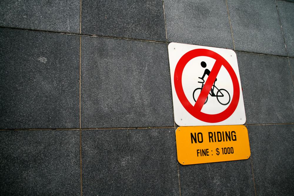 Prohibido-bicicleta
