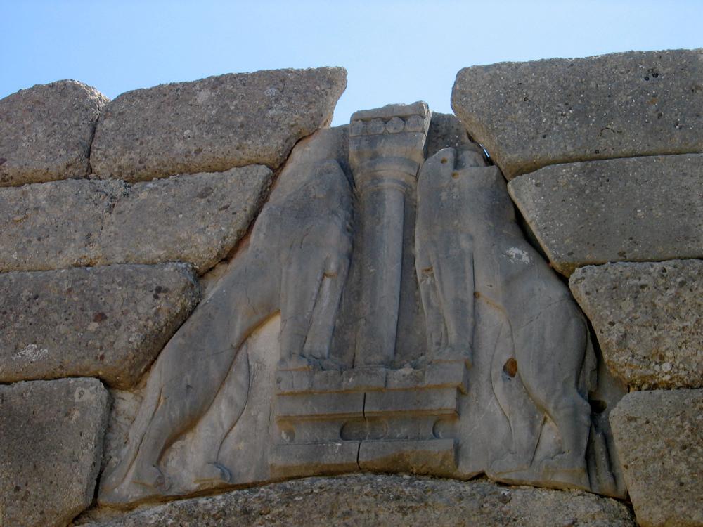 Puerta-de-los-leones-de-Micenas