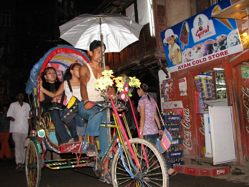 Rickshaw-nocturno