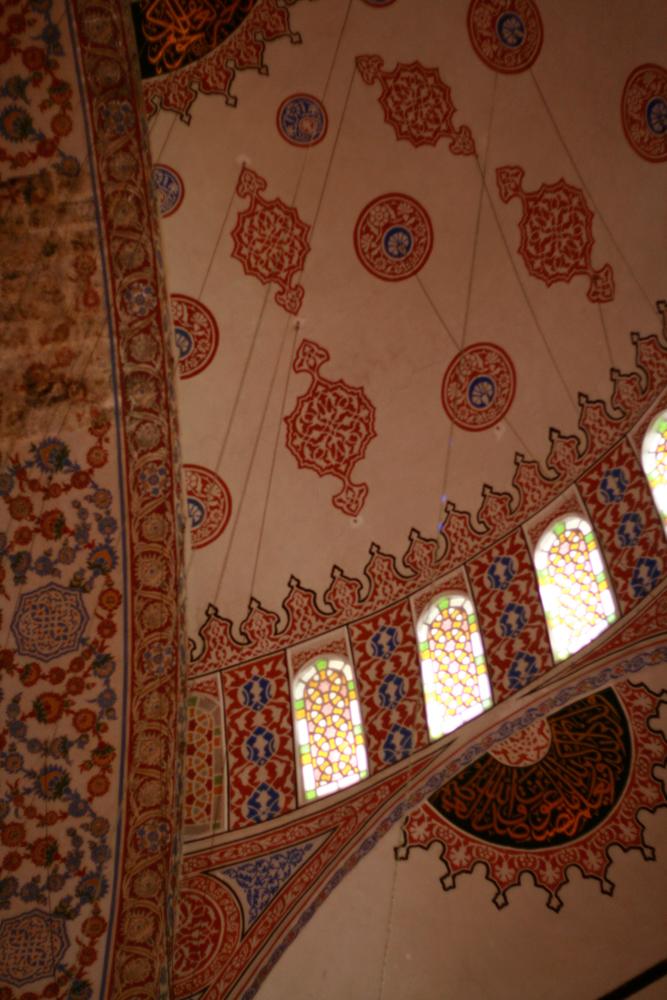 Semicupula-en-la-mezquita-azul