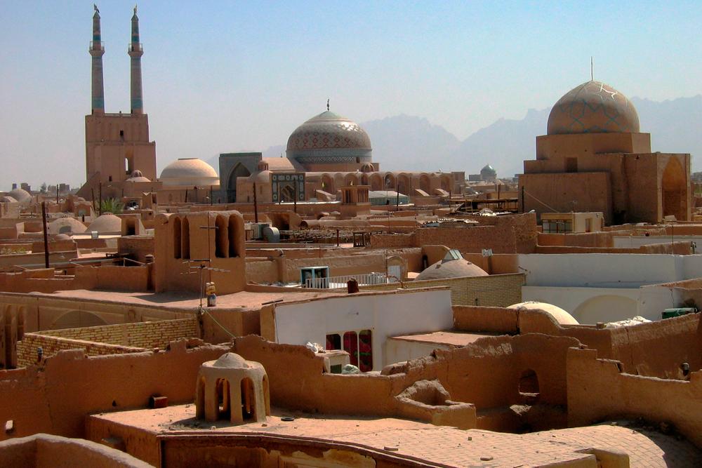 Arquitectura de adobe en Yazd
