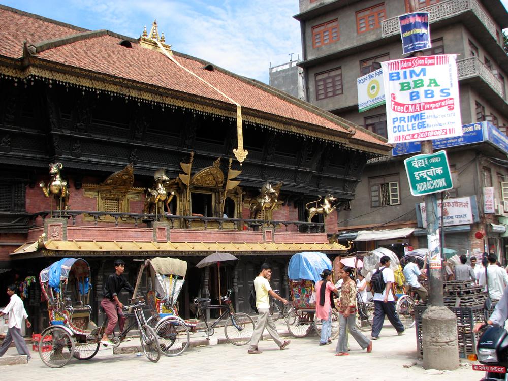 Una-calle-de-Katmandú