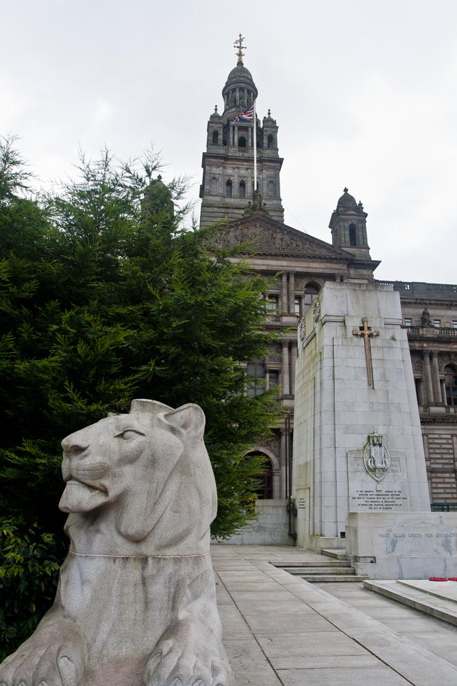 Una-plaza-en-Glasgow