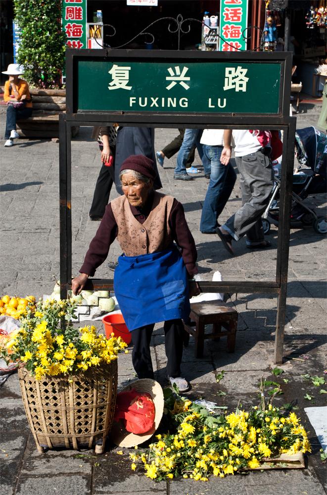 Vendedora-de-flores-en-Lijian