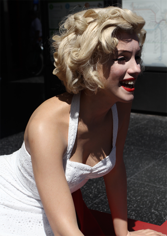 Marilyn-Monroe-en-Hollywood-bulevar
