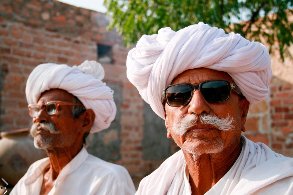Anciano-Bishnoi-en-India
