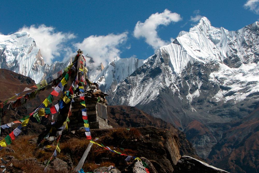 Circo-de-los-Annapurnas-de-Himalaya-en-Nepal
