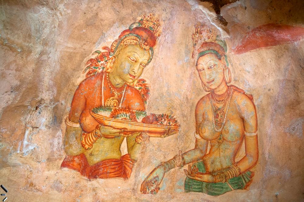 Ciudad-Vieja-de-Sigiriya-en-Sri-Lanka-(Pintura-Mural)