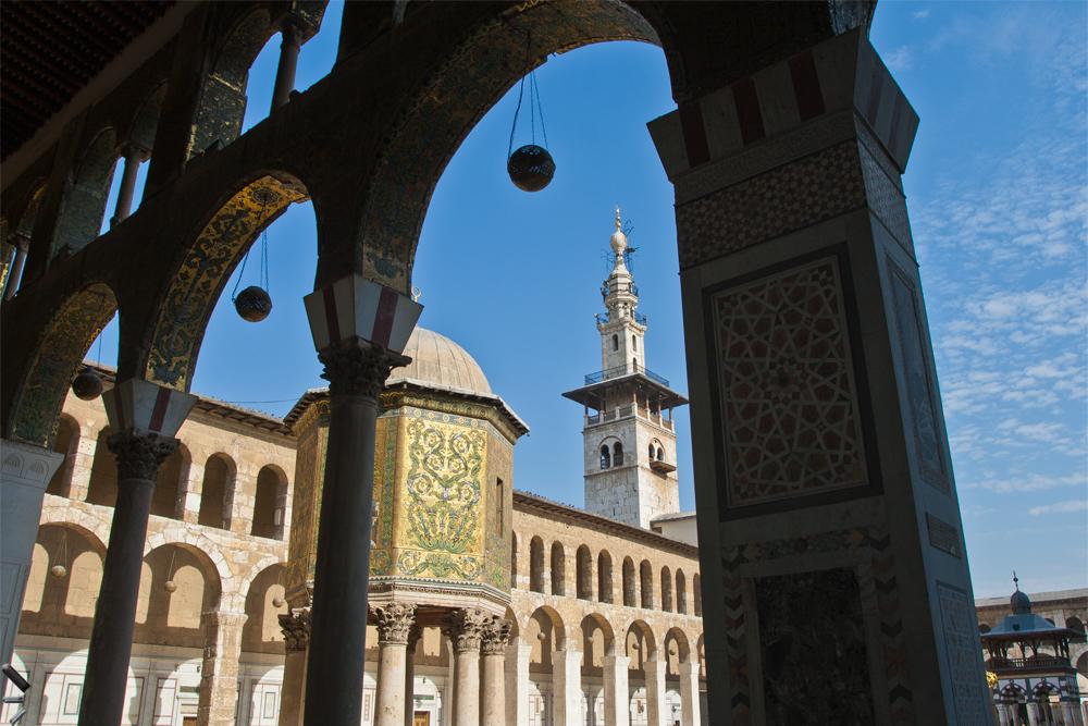 Ciudad-vieja-de-Damasco-en-Siria-(Mezquita-de-los-Omeyas)