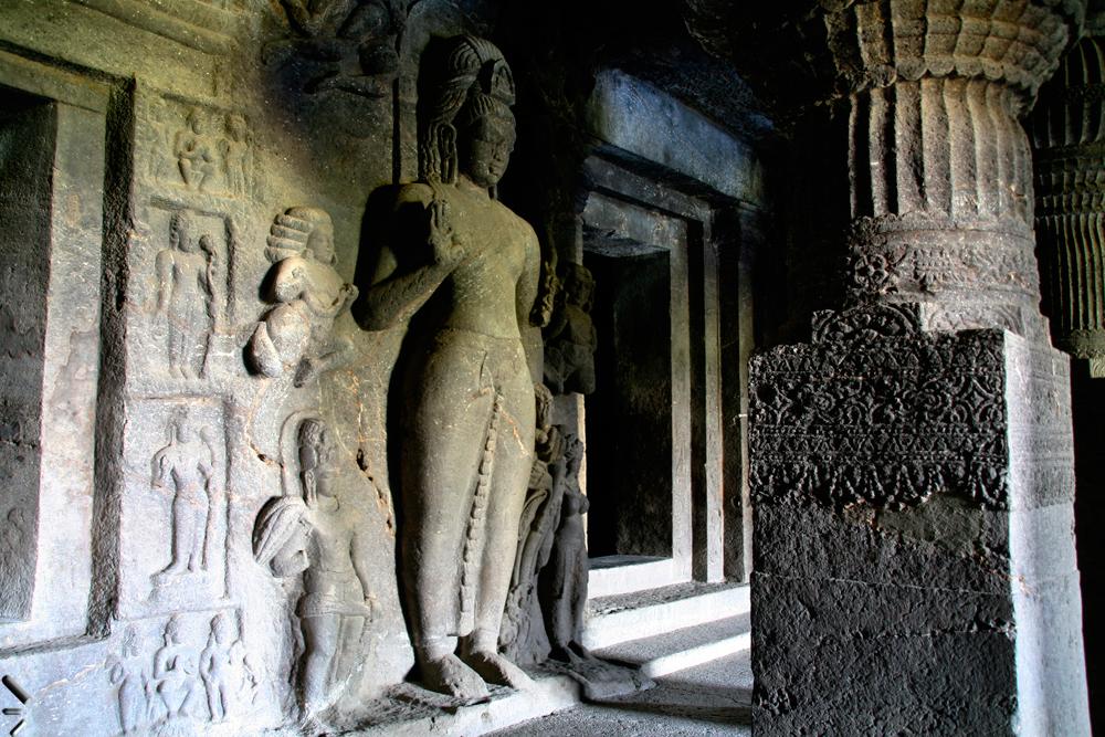 Cuevas-budistas-de-Ellora-en-India