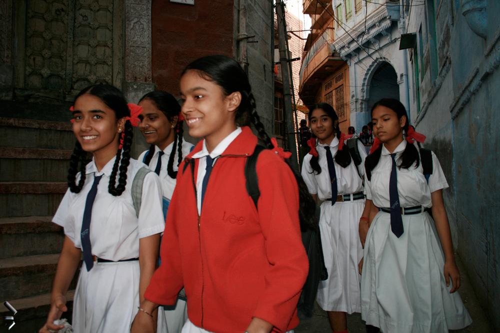 Las-alegres-colegialas-de-Jodhpur-India