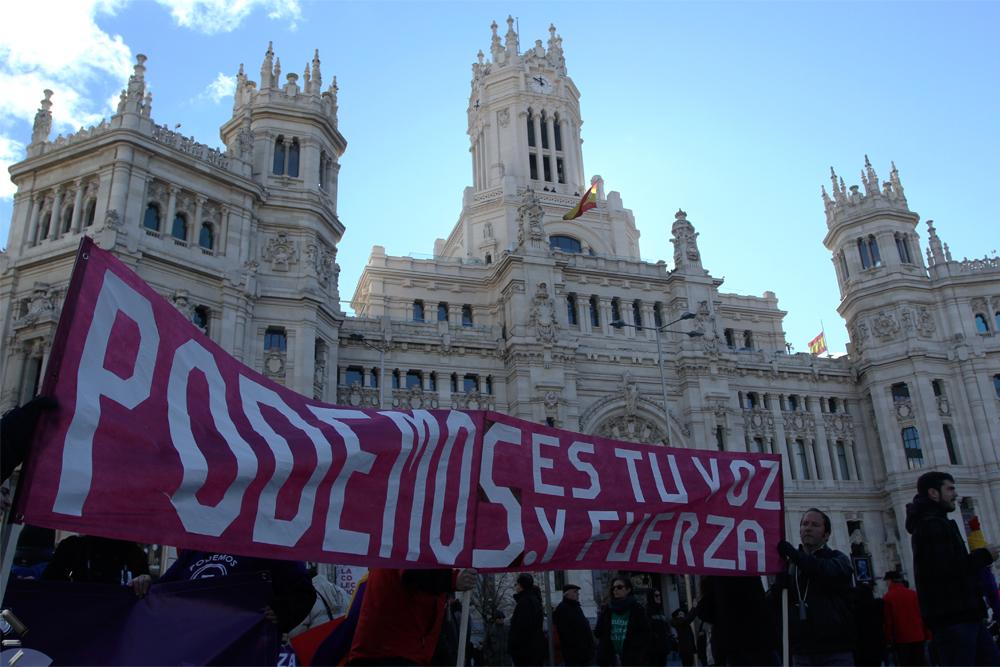 Manifestación-partido-político-en-Madrid