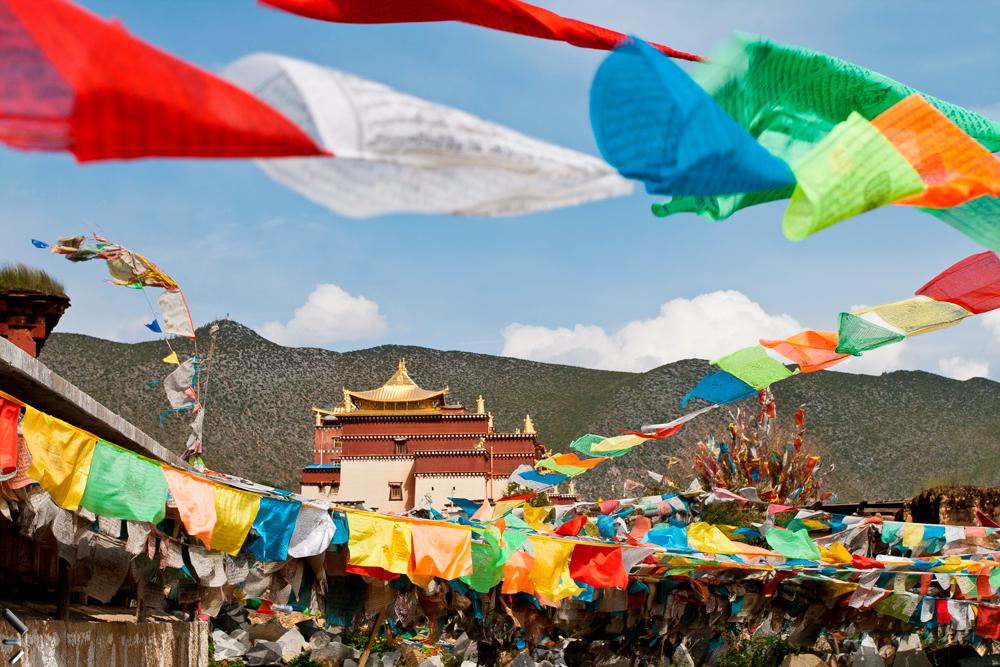 Monasterio-de-Songzanlin-de-la-provincia-de-Yunnan-en-China