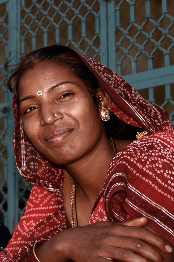 Mujer-en-Ranakpur-en-India