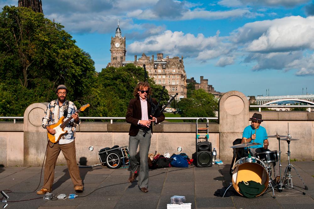Musicos-en-Edimburgo