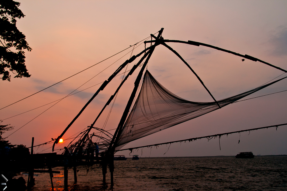 Redes-de-pesca-chinas-de-Cochin-en-India