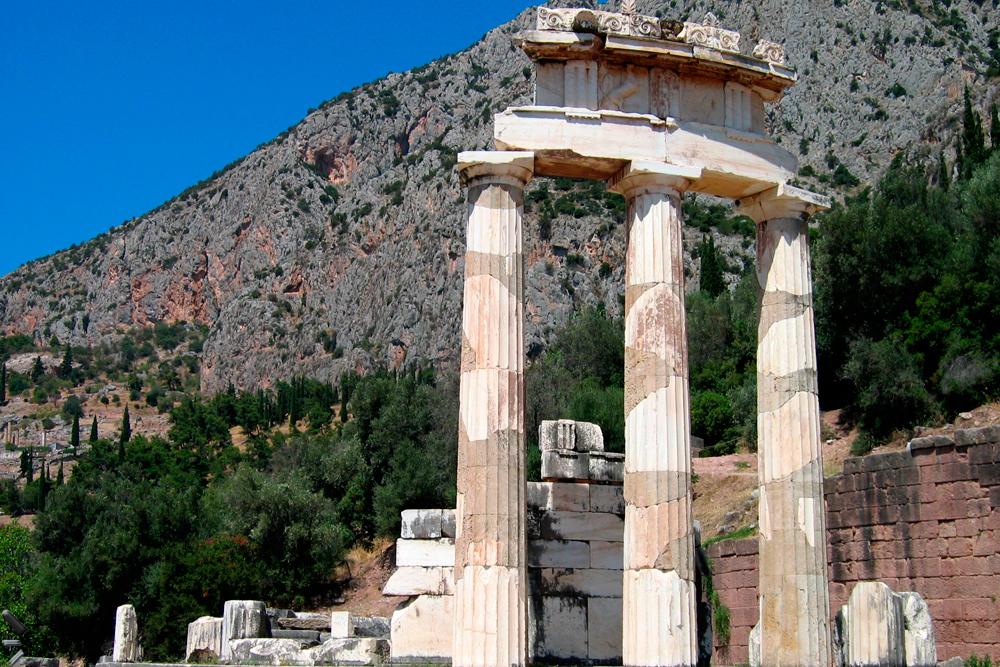 Sitio-arqueológico-de-Delfos-en-Grecia