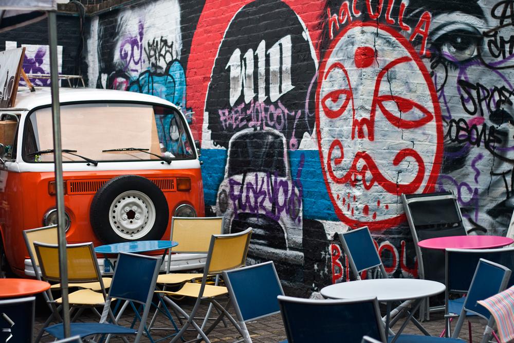 Terraza-del-Mercado de Portobello en Londres