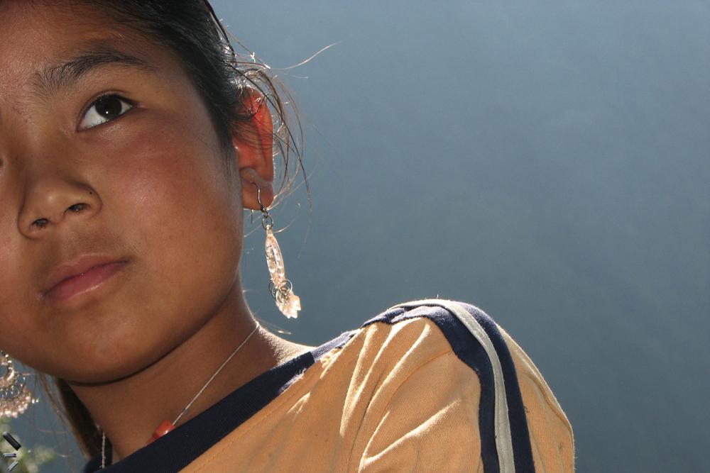 Una-joven-en-los-Annapurnas-Nepal