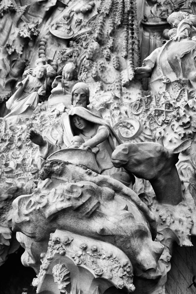 Detalle-de-la-fachada-principal-de-la-Sagrada-Familia
